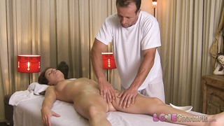 cherish Creampie horny young dame enjoys oily massage Thumb