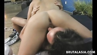 blondie asian whore rails  the man sausage so she ejaculates Thumb