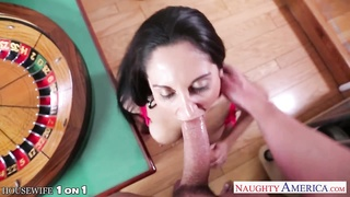 big-boobed brunette housewife Ava Addams poking Thumb