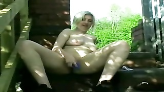 horny fleshy plump GF displaying her cunt and ass Outdoors Thumb