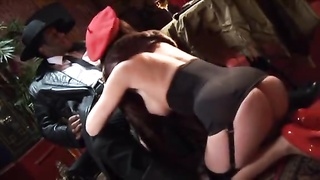 Nazi cunt gets plumbed by a chubby unlit dick in the donk Thumb