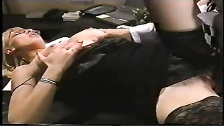 Office damsel gets her labia and butt plumbed, glasses spunked Thumb