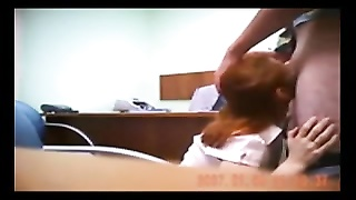 Hidden cam catches redhead in quick office pound Thumb
