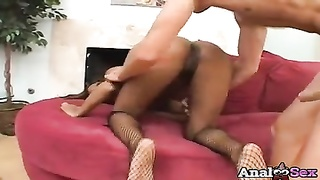 black  babe marie Luv gets pulverized up the donk Thumb