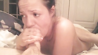 woman deep throats men manhood In Bathing Suit In Bed section two . Thumb