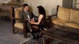 Luxury escort teases and drills him Thumb