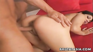 chesty oriental bitch gets her cunny pumped good Thumb