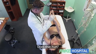 FakeHospital attractive brunettes wet twat gets doctors man rod Thumb