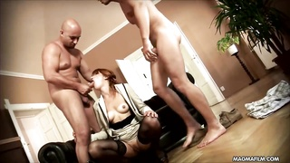 MAGMA movie kinky Housewife gets double penetration  from her gardeners Thumb