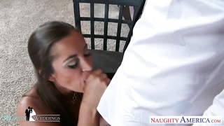molten brunette Dani Daniels smashing at wedding Thumb