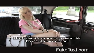 FakeTaxi - blonde takes cash for blowage Thumb