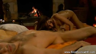 Brunette fellatio From best Indian milf Thumb