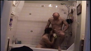 couple in the shower washing and screwing Thumb