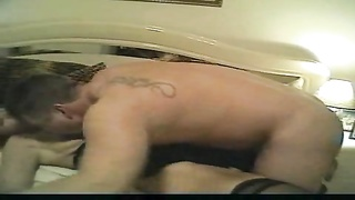 Making hardcore porn with his curvy wife Thumb