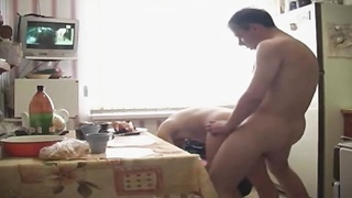 Here Is great couple pounding And gargling  In The Kitchen Thumb