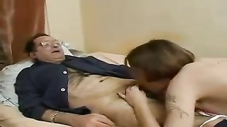 She lets ancient boy  into her vulva and butt-hole Thumb