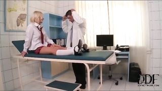 Schoolgirl Kiara Lord tied up by her doctor Thumb