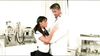 slutty schoolgirl in pigtails blows her doctor Thumb