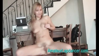 Skinny blonde amateur is one hell of a dancer Thumb