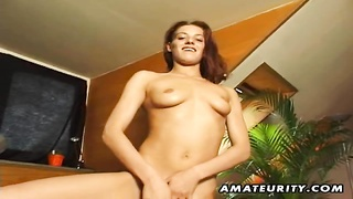 A adorable  German fledgling  girlfriend gets her slit fingered and gives a full blowjob dumb! genui Thumb