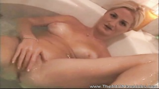 A attractive nice titted blondie giving this fortunate stud a hand job in the pool and tub while bat Thumb