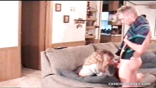 fat milf deepthroats the youthfull  guy in warm clip Thumb