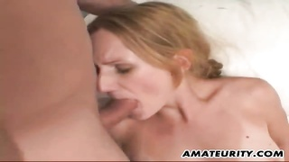 inexperienced girlfriend double penetration with facial Thumb