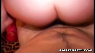 A lucky guy enjoys 2 molten fledgling  whores in this homemade threesome, he ravages and gets throat Thumb