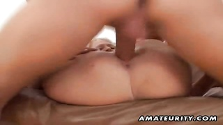 A very hot blondie fledgling  gf  homemade xxx  blowage  and ravage ending with a benign cumshot inh Thumb