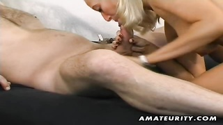 A attractive blondy amateur gf  homemade hardcore action. She gets her cootchie toyed and gobbled an Thumb