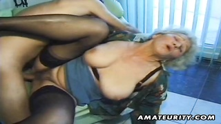 A very old used fledgling  wife with furry fuckbox homemade xxx  act expressionless! bj and pound en Thumb