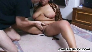 A elephantine and huge-chested amateur milf homemade xxx  activity  with suck off, ravage and a vast Thumb