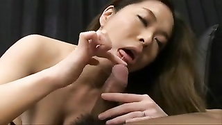pretty huge-boobed  Japanese MILF's honeypot  Creampied Thumb