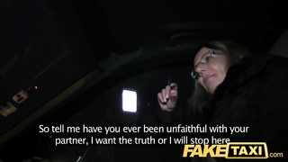 FakeTaxi blonde gets her kit off in taxi cab Thumb