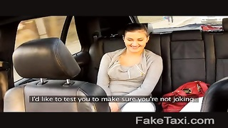 FakeTaxi - Backseat hookup on public roadside Thumb