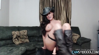 Alexia Storm dressed in cowgirl outfit Thumb