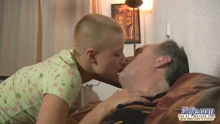 short -haired blondy teenage  tease an cougar for pound Thumb