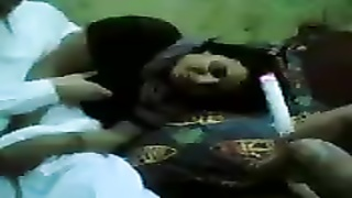 Cute Arab babe plays with his cock Thumb