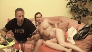 couple on their couch making hardcore porn Thumb