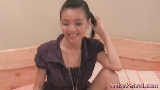 deep throated by adorable inexperienced Filipina Thumb
