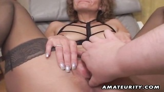 A poor old amateur housewife homemade hardcore fellatio with jizz shot in her mouth humdrum! She guz Thumb
