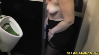 dirty slutwife Marion gets pissed on, gangbanged and creampied by 8 guys. No staging, sincere realit Thumb
