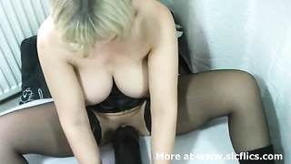 big-chested blond fledgling  milf needs a spacious shadowy fake penis  to spread her cavernous twat Thumb