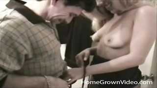 blondy blows him in the bathroom and gets laid Thumb