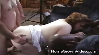 paunchy waving hoe nailed in a scorching group sex Thumb