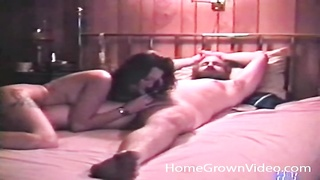 boy  with a big beard throated in a vintage porn Thumb