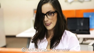 HD FantasyHD - Naughty secretary Lily Carter fucks in office Thumb