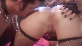 lady in fishnet munched  and drilled Thumb
