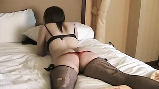 super hot donk damsel in glasses lies on the bed Thumb