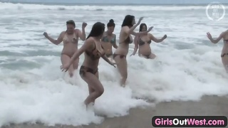 damsels  Out West - nasty lesbian orgy at the beach Thumb